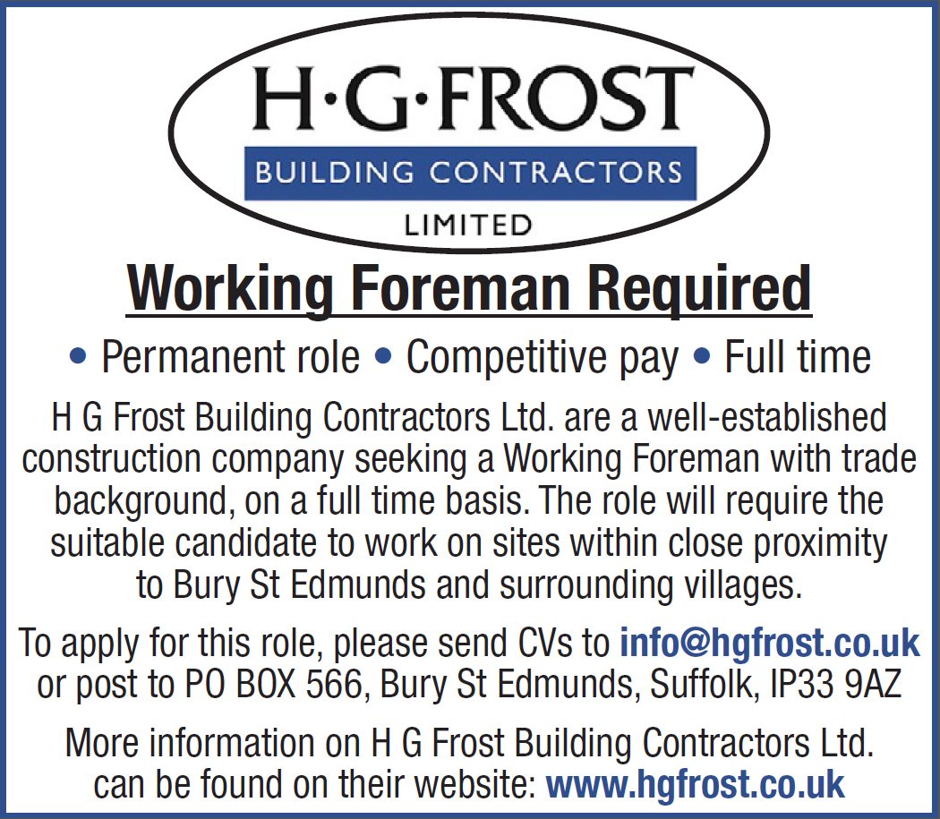 Working Foreman Required